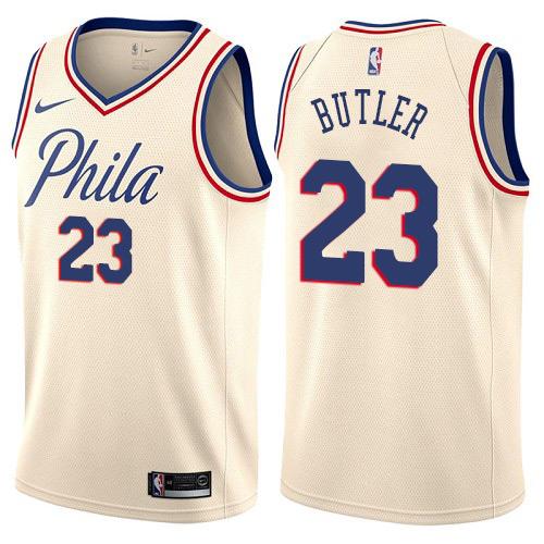 Nike 76ers #23 Jimmy Butler Cream NBA Swingman City Edition Jersey