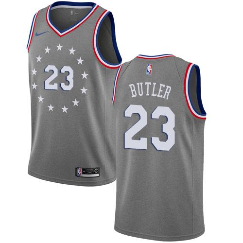 Nike 76ers #23 Jimmy Butler Gray NBA Swingman City Edition 2018 19 Jersey