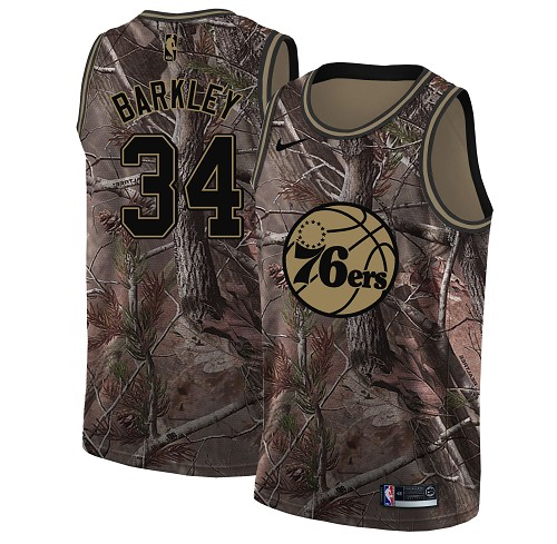 Nike 76ers #34 Charles Barkley Camo Youth NBA Swingman Realtree Collection Jersey