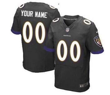 Nike Baltimore Ravens Customized 2013 Black Elite Jersey