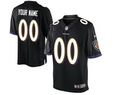 Nike Baltimore Ravens Customized 2013 Black Limited Jersey