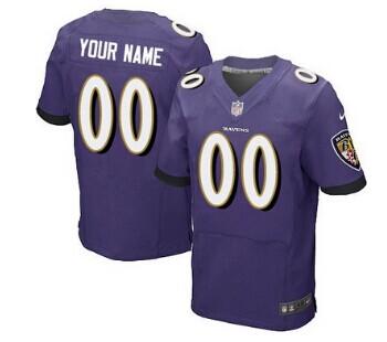 Nike Baltimore Ravens Customized 2013 Purple Elite Jersey