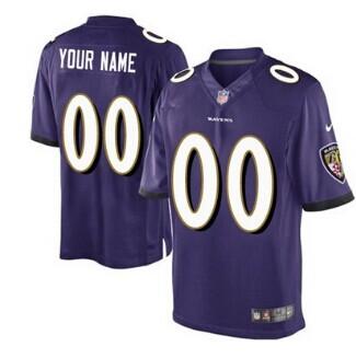 Nike Baltimore Ravens Customized 2013 Purple Game Jersey