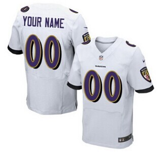 Nike Baltimore Ravens Customized 2013 White Elite Jersey