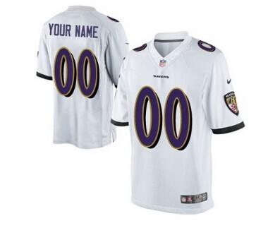 Nike Baltimore Ravens Customized 2013 White Limited Jersey