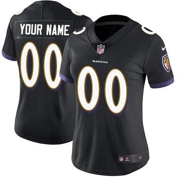 Nike Baltimore Ravens Limited Black Alternate Women's Jersey NFL Vapor Untouchable Customized jerseys