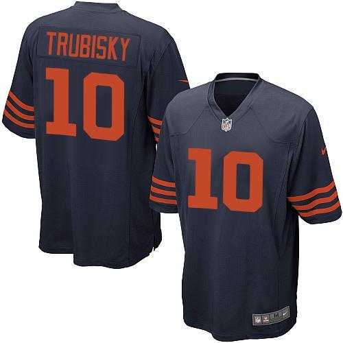 Nike Bears #10 Mitchell Trubisky Navy Blue Alternate Youth Stitched NFL Elite Jersey