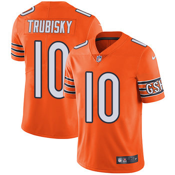 Nike Bears #10 Mitchell Trubisky Orange Youth Stitched NFL Limited Rush Jersey