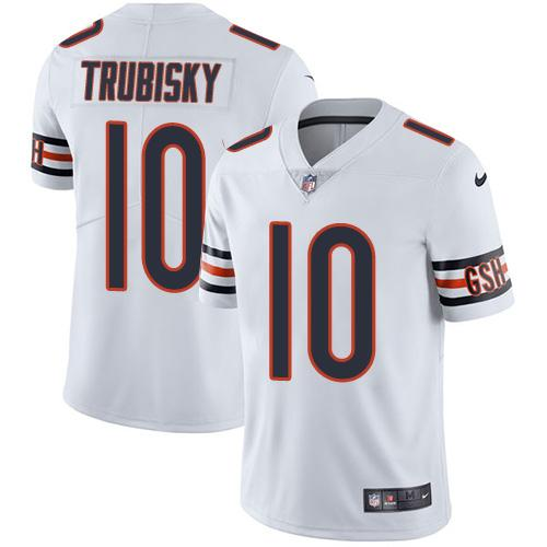 Nike Bears #10 Mitchell Trubisky White Youth Stitched NFL Vapor Untouchable Limited Jersey