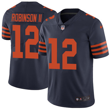 Nike Bears #12 Allen Robinson II Navy Blue Alternate Men's Stitched NFL Vapor Untouchable Limited Jersey