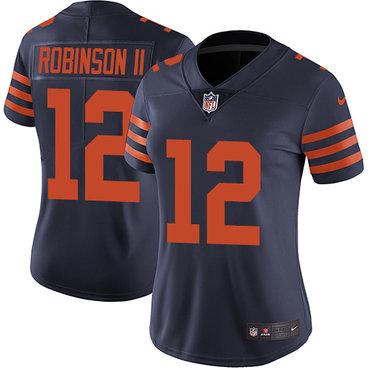 Nike Bears #12 Allen Robinson II Navy Blue Alternate Women's Stitched NFL Vapor Untouchable Limited Jersey