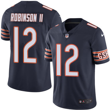 Nike Bears #12 Allen Robinson II Navy Blue Team Color Youth Stitched NFL Vapor Untouchable Limited Jersey