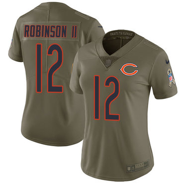 Nike Bears #12 Allen Robinson II Olive Women's Stitched NFL Limited 2017 Salute to Service Jersey