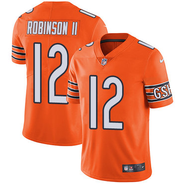 Nike Bears #12 Allen Robinson II Orange Youth Stitched NFL Limited Rush Jersey