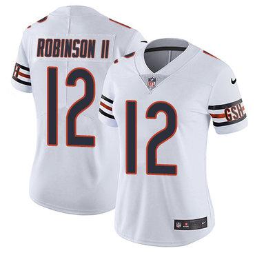 Nike Bears #12 Allen Robinson II White Women's Stitched NFL Vapor Untouchable Limited Jersey