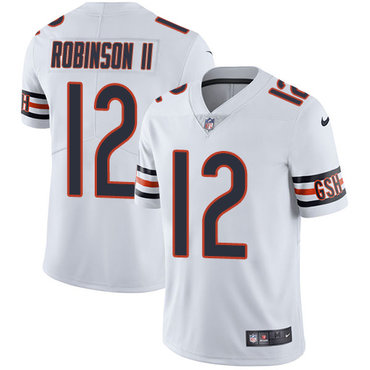 Nike Bears #12 Allen Robinson II White Youth Stitched NFL Vapor Untouchable Limited Jersey