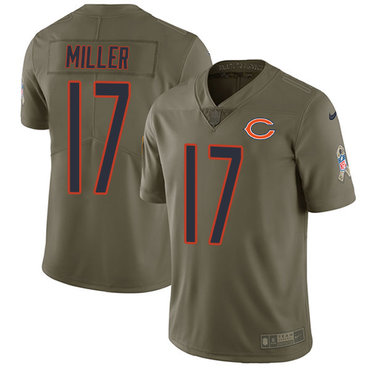 Nike Bears #17 Anthony Miller Olive Youth Stitched NFL Limited 2017 Salute to Service Jersey