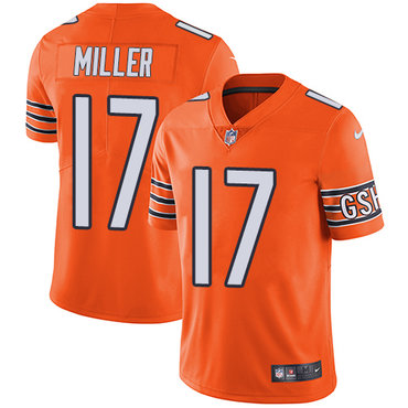 Nike Bears #17 Anthony Miller Orange Youth Stitched NFL Limited Rush Jersey