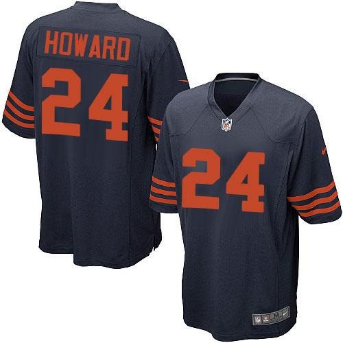 Nike Bears #24 Jordan Howard Navy Blue Alternate Youth Stitched NFL Elite Jersey