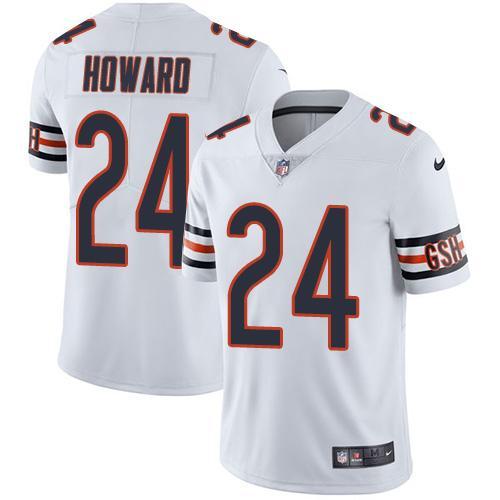 Nike Bears #24 Jordan Howard White Youth Stitched NFL Vapor Untouchable Limited Jersey
