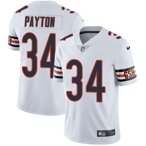Nike Bears #34 Walter Payton White Youth Stitched NFL Vapor Untouchable Limited Jersey