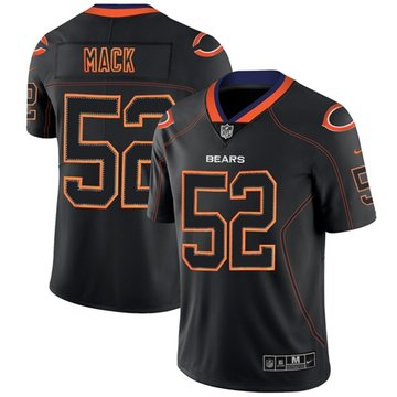 Nike Bears #52 Khalil Mack Lights Out Black Men's Stitched NFL Limited Rush Jersey