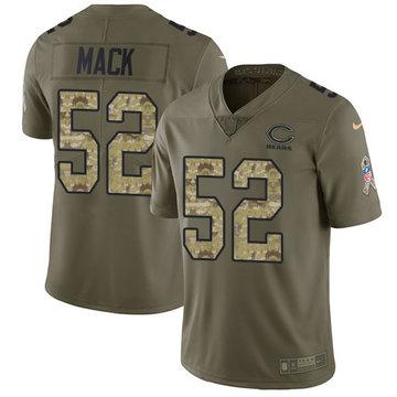 Nike Bears #52 Khalil Mack Olive Camo Men's Stitched NFL Limited 2017 Salute To Service Jersey