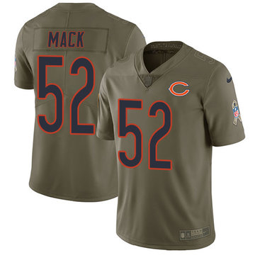 Nike Bears #52 Khalil Mack Olive Men's Stitched NFL Limited 2017 Salute To Service Jersey