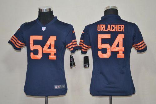 Nike Bears #54 Brian Urlacher Navy Blue Alternate Youth Stitched NFL Elite Jersey