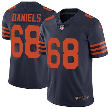 Nike Bears #68 James Daniels Navy Blue Alternate Men's Stitched NFL Vapor Untouchable Limited Jersey