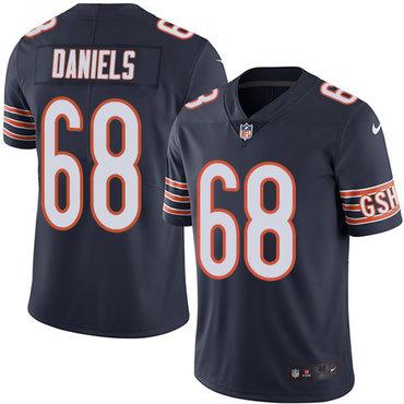 Nike Bears #68 James Daniels Navy Blue Team Color Men's Stitched NFL Vapor Untouchable Limited Jersey