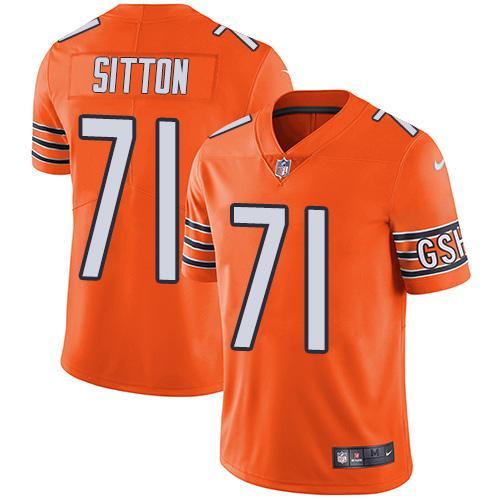 Nike Bears #71 Josh Sitton Orange Youth Stitched NFL Limited Rush Jersey