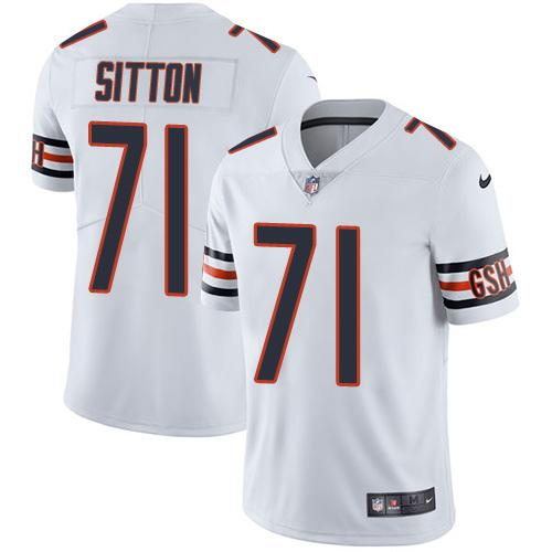 Nike Bears #71 Josh Sitton White Youth Stitched NFL Vapor Untouchable Limited Jersey