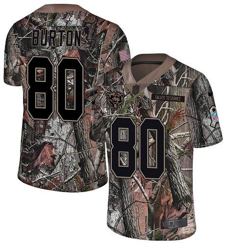 Nike Bears #80 Trey Burton Camo Men's Stitched NFL Limited Rush Realtree Jersey