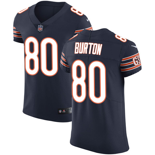 Nike Bears #80 Trey Burton Navy Blue Team Color Men's Stitched NFL Vapor Untouchable Elite Jersey