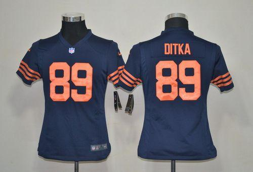 Nike Bears #89 Mike Ditka Navy Blue Alternate Youth Stitched NFL Elite Jersey