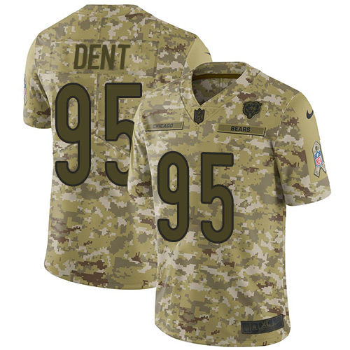 Nike Bears #95 Richard Dent Camo Men's Stitched NFL Limited 2018 Salute To Service Jersey
