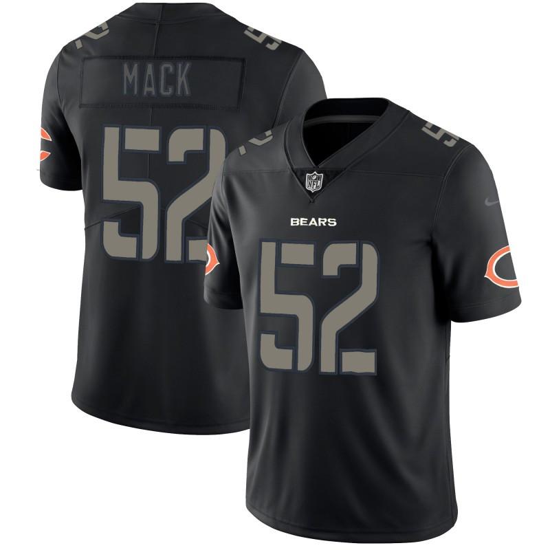 Nike Bears 52 Khalil Mack Black Vapor Impact Limited Jersey