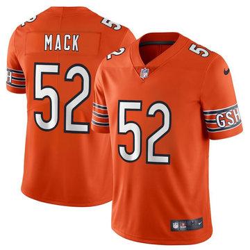 Nike Bears 52 Khalil Mack Orange Youth Vapor Untouchable Limited Jersey