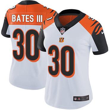 Nike Bengals #30 Jessie Bates III White Women's Stitched NFL Vapor Untouchable Limited Jersey