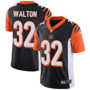 Nike Bengals #32 Mark Walton Black Team Color Men's Stitched NFL Vapor Untouchable Limited Jersey