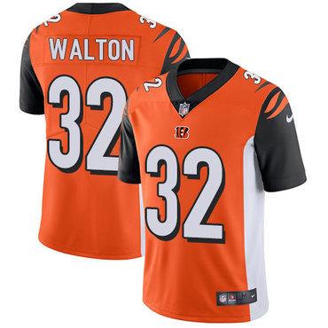 Nike Bengals #32 Mark Walton Orange Alternate Men's Stitched NFL Vapor Untouchable Limited Jersey