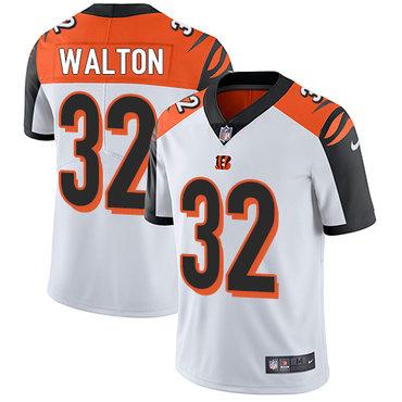 Nike Bengals #32 Mark Walton White Men's Stitched NFL Vapor Untouchable Limited Jersey