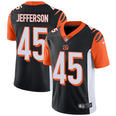 Nike Bengals #45 Malik Jefferson Black Team Color Men's Stitched NFL Vapor Untouchable Limited Jersey