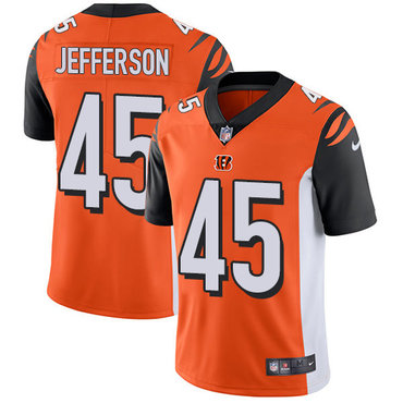 Nike Bengals #45 Malik Jefferson Orange Alternate Men's Stitched NFL Vapor Untouchable Limited Jersey