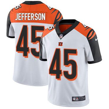 Nike Bengals #45 Malik Jefferson White Men's Stitched NFL Vapor Untouchable Limited Jersey