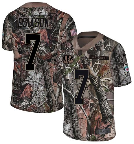 Nike Bengals #7 Boomer Esiason Camo Men's Stitched NFL Limited Rush Realtree Jersey