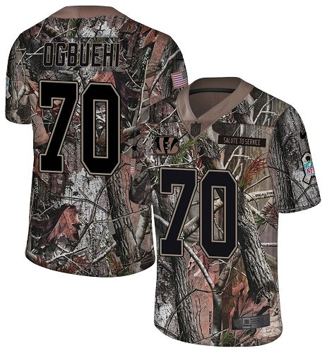 Nike Bengals #70 Cedric Ogbuehi Camo Men's Stitched NFL Limited Rush Realtree Jersey