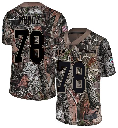 Nike Bengals #78 Anthony Munoz Camo Men's Stitched NFL Limited Rush Realtree Jersey