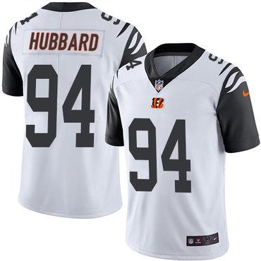 Nike Bengals #94 Sam Hubbard White Men's Stitched NFL Limited Rush Jersey